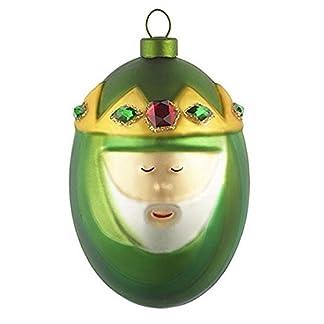 Alessi-Melchiorre-Weihnachtsbaumkugel-aus-mundgeblasenes-Glas-Handdekoriert-1er-Pack-1-x-1-Stck