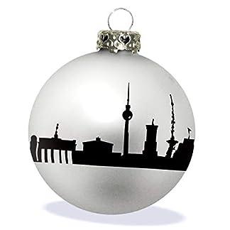 44spaces-Design-Christbaumkugel-zu-Weihnachten-Glas-Silber-matt-Skyline-schwarz-Weihnachtsschmuck-zum-Anhngen
