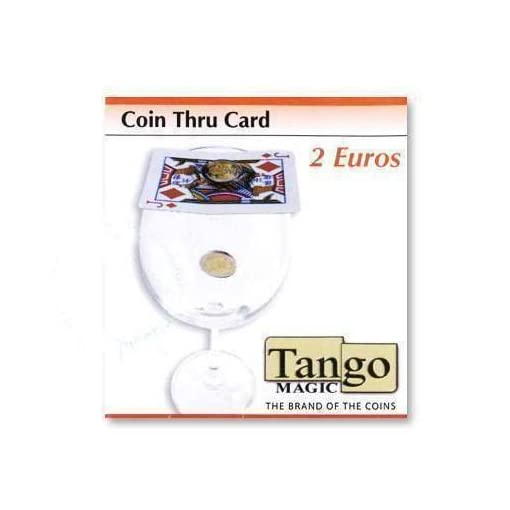 Coin-thru-card-2-Euro-by-Tango-Magic-Magie-mit-Tuch-Zaubertricks-und-Magie