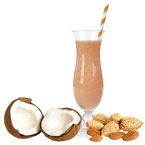Kokos Mandel Geschmack Proteinpulver Vegan mit 90% reinem Protein Eiweiß L-Carnitin angereichert für Proteinshakes Eiweißshakes Aspartamfrei (1 kg)