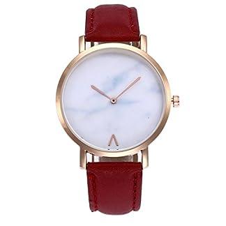 Godagoda-Unisexuhr-Analog-Quarz-Armbanduhr-Einfach-Elegant-Mode-mit-Leder-Armband-und-Marmor-Zifferblatt