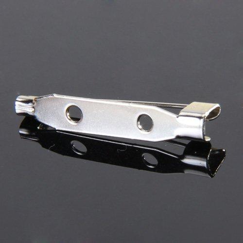 SODIAL(R) 50 Stueck Brosche Zurueck Sicherheitsverschluss Bar Stifte 20mm
