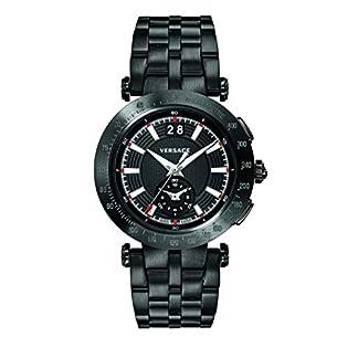 Versace-Herren-Analog-Quarz-Uhr-mit-Edelstahl-Armband-VAH040016