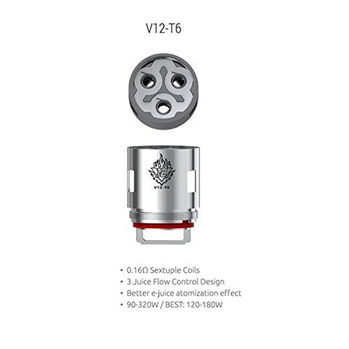 DIY-24H – Smok 3er Pack V12 T6 – 0.17 Ω Ohm Verdampferköpfe Coils Head für TFV12 Verdampfer
