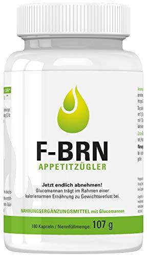 Vihado F-BRN Appetitzügler Kapseln, Jetzt endlich abnehmen, 180 Kapseln, 1er Pack (1 x 107 g)