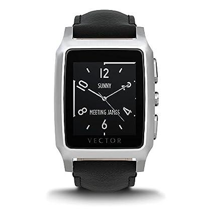 Vector-M1-20-005-Meridian-Smartwatch-36mm-Edelstahl-mit-Leder-Armband-schwarz