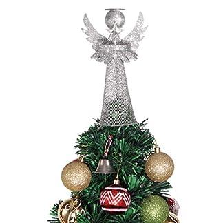 Amosfun-Weihnachtsbaumspitze-Engel-Silber-Christbaumspitze-Dekoration-Beschichtetes-Metall-Engel-Weihnachtsbaumspitze-Ornamente-fr-Urlaub-Zuhause-Bro-Shopping-Mall-Decor