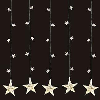 Multistore-2002-LED-Sternenvorhang-105x100cm-mit-100-LED-Lichter-warmwei-weihnachtlicher-Lichtervorhang-Weihnachtsdekoration-Dekoleuchte-Dekolicht-Lichterkette-Stern