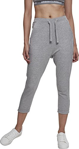 Urban Classics Damen Sporthose Ladies Open Edge Terry Turn Up Pants