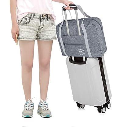 Wandf-Leichter-Faltbare-Reise-Gepck-Handgepck-Duffel-Taschen-bernachtung-TaschenSporttasche-fr-Reisen-Sport-Gym-Urlaub-Weekender-handgepaeck