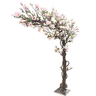 XUANLAN-Realistischer-knstlicher-Baum-Knstlicher-Magnolien-Baum-Knstlicher-geflschter-Blumen-Baum-groer-Boden-Blumenfestholz-Flschungsbetriebs-Dekoration-Leicht-zu-reinigen