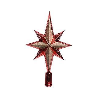 Baumspitze-Stern-Glitter-25cm-Kunststoff-rot-gold-bruchfest-Christbaumschmuck-Weihnachtsdeko-Christbaumspitze-Weihnachtsbaumspitze-Baumspitze-Tannenbaumspitze