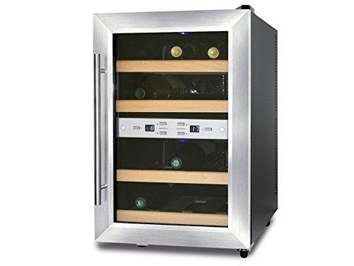 Caso-Profi-Weinkhlschrank-fr-12-Flaschen-7-18-C-2-getrennt-regelbare-Temperaturzonen-WK620-GGG