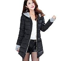 TWBB-Damen-Winterjacke-Daunenjacke-leicht-Wintermantel-Outwear-Steppjacke-mit-Kapuze-Kapuzenpullover-Daunenjacke-Zusammenklappbar-Warm-mit-Reiverschluss-Jacke9-Farben-optionalBaumwolleM-4XL