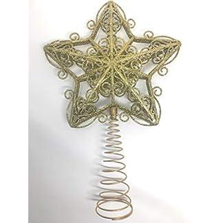 You-Love-a-Bargain-Weihnachtsbaumspitze-mit-Glitzerstern-Stern-Design-goldfarben-Silber-oder-wei