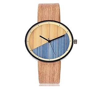 Yuwegr-Damen-Uhren-Casual-Quarz-Mode-Einfache-Elegant-Damen-Uhr-Lederband-Analoge-ArmbanduhrGelb