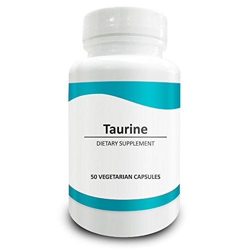 Pure Science Taurin 1000 mg – Taurin Ergänzung verbessert die Herz-Kreislauf-Gesundheit, reguliert den Blutzuckerspiegel und Stimmung – 50 vegetarische Kapseln von Taurin Pulver