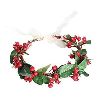 Beaupretty-Weihnachtskrnze-knstliche-Beere-Garland-Kopf-Kleid-fr-Braut-Weihnachtsdekoration-rot