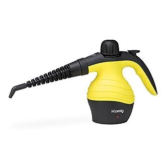 HKoenig-NV60-Handdampfreiniger-6-verschiedene-Aufstze-42-bar-250-ml-Wassertank-1000-W-gelb