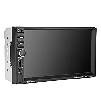 Garsent-Autoradio-GPS-Navigation-7-Zoll-Bluetooth-Video-MP3-MP5-Player-Auto-Touchscreen-Media-Receiver-mit-Rckfahrmonitor-GPS-Zwei-Wege-Videoausgang-Untersttzung-USBTFFM-Radio
