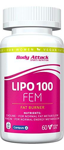 Body Attack, Lipo 100 FEM, 1er Pack (1 x 60 Kapseln)