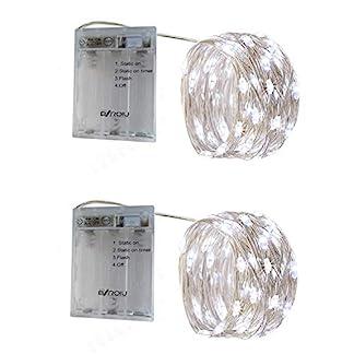 BXROIU-2-x-50er-Micro-LED-Lichterkette-Batterie-betrieb-3-Programm-und-Timer-Auf-5-Meter-Silberdraht-fr-Party-Weihnachten-Halloween-Hochzeit-Deko