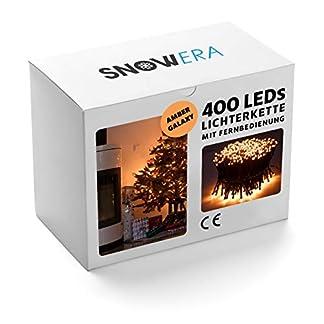 SnowEra-400er-LED-Galaxy-Lichterkette-Weihnachtslichterkette-fr-innen-auen-mit-Timer-Dimmfunktion-und-Fernbedienung-Lichtfarbe-amber-bernstein-Form-Cluster-Lichterkette