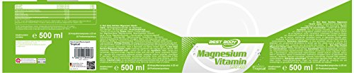 Best Body Nutrition Magnesium Vitamin Liquid, Tropical Geschmack, 20 Ampullen à 25 ml (500 ml)