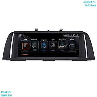 XISEDO-1025-Zoll-Bildschirm-Android-71-RAM-2G-ROM-32G-4-Core-Autoradio-Moniceiver-mit-GPS-Navi-WiFi-Lenkradkontrolle-Android-Radio-fr-BMW-5-Series-F10-F112011-2012-Ursprngliches-CIC-System