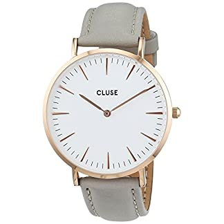 Cluse-Damen-Armbanduhr-Analog-Quarz-Leder