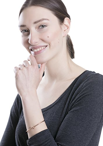Happiness Boutique Damen Armband Seemannsknoten in Rosegold | Cuff Armband Minimalist Knotenarmband nickelfrei