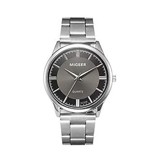 Armbanduhr-Men-Liusdh-Uhren-Schlichter-schwarzer-mattierter-Quarz-Mehrfachzifferblatt-Edelstahl-mit-Uhr