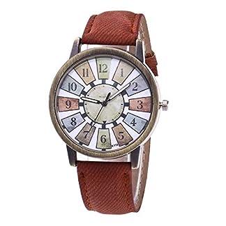 Godagoda-Damen-Armbanduhr-Retro-Klassisch-PU-Leder-Armband-Creative-Bunt-Gitter-Muster-Druck-Wasserdicht-Frau-Quarzuhr