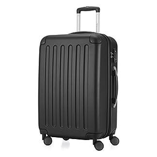 Hauptstadtkoffer-Spree-Hartschalen-Koffer-Koffer-Trolley-Rollkoffer-Reisekoffer-Erweiterbar-TSA-4-Rollen-65-cm-74-Liter-Schwarz