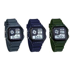 JewelryWe-Herren-Digitaluhr-Digital-Armbanduhr-30M-Wasserdicht-Sportuhr-Quadrat-Uhren-mit-1224H-Chronograph-Countdown-Stoppuhr-Wecker-Kalender-und-LED-Beleuchtung