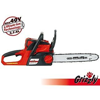 Grizzly-Akku-Kettensge-AKS-4035-Lion-inkl-25-Ah-Akku-und-Ladegert-40-V-Akkusystem-Brushless-Motor-Sge-Oregon-Schwert-Kette-Schnittlnge-35-cm