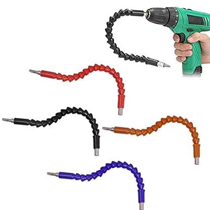 Xrten-4-Stck-Flexible-Power-Bit-ConnectUniversal-Schaft-Bits-Bohrer-Verlngerung-Schraubenzieher-Bohrerverbindung