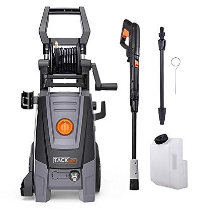 Tacklife-Hochdruckreiniger-Max-Druck-160-Bar-450Lh-2000Watt-mit-Schlauchtrommel-TSS-Sicherheitssystem-IPX5-5M-Kabel-6M-Hochdruckschlauch-fr-Auto-Haushalt-Garten