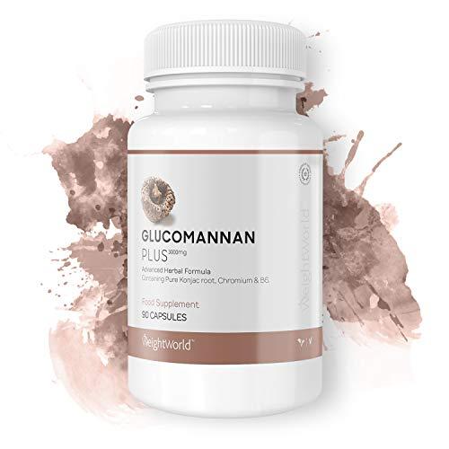 Glucomannan Plus | 30 Kapseln zur Bekämpfung von Hunger & Heißhunger | 3.000mg Glucomannanextrakt | 100% Natürliche Unterstützung beim Abnehmen | Mit Vitamin B6 & Chrom | 10tägige Kur auch für Veganer