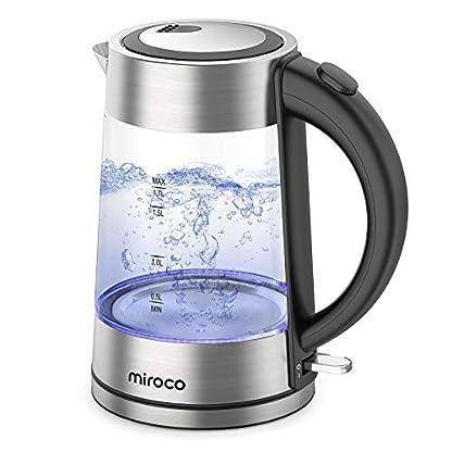 Miroco-Glas-Wasserkocher-Elektrischer-Wasserkessel-Teekessel-mit-Edelstahl-Deckel-2200W-Schnelles-Wasserkochen-fr-Tee-Kaffee-17L-Elektrische-Kanne-LED-Beleuchtung-Trockenlaufschutz-BPA-Frei