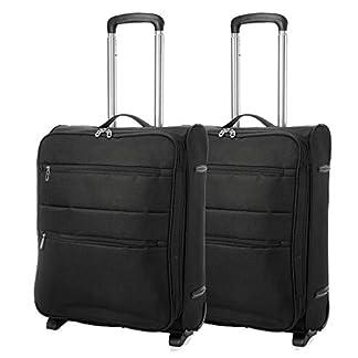 EONO-Erweiterbar-Ryanair-55x40x20cm-bis-Lufthansa-55x40x23cm-Leicht-Handgepck-Koffer-mit-2-Rdern
