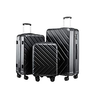Seanshow-Hochwertiger-Hartschalen-Kofferset-Trolley-ABS-Material-mit-TSA-Schloss-und-Laufrollen-3-teiliges-Set-55-cm-68-cm-78-cm