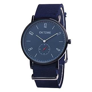 Souarts-Damenuhr-Elegant-Einfach-Mode-Wasserdicht-Armbanduhr-Analog-Quarz-mit-Batterie-und-Nylon-Armband