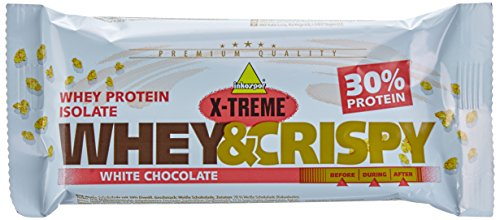 Inkospor X-Treme Whey & Crispy Riegel, White Chocolate, 24 x 50g