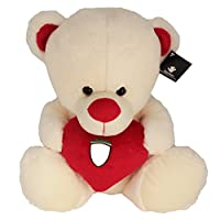 Sportbaer-21436-Ferrari-Two-in-One-Teddy-and-Heart-Pillow-rot
