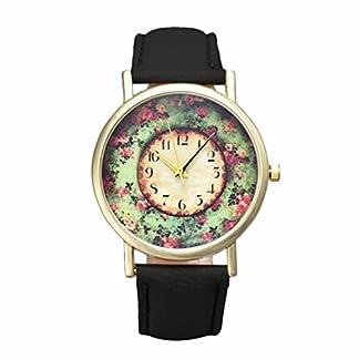 EARS-Girl-Women-Lovely-Fashion-Crystal-Stainless-Steel-Analog-Quartz-Wrist-Watch-Pastorale-Floral-Frauen-Lederband-Analog-Quarz-Zifferblatt-Armbanduhr-Vintage-for-Girls-Women-Ladies