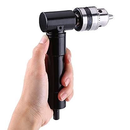 Aluminium-Kopf-rechtwinklig-Bend-Verlngerung-Chuck-8mm-Hex-Shank-Power-Elektrische-Bohrmaschine-Kopf-rechten-Winkel-Fahrer-90-Grad-Schaft-schnurlose-Selbstbohrer-Werkzeug