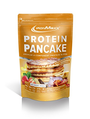 IronMaxx Protein Pancake – 300 g Beutel – Erdbeere-Weisse Schokolade