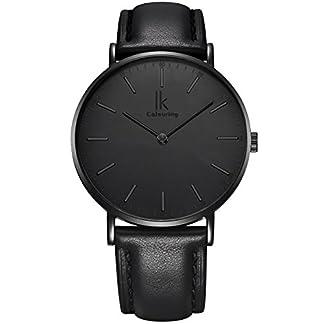 Alienwork-IK-Unisex-Edelstahl-Armbanduhr-Damen-und-Herren-analog-I-Leder-Armband-Lederarmband-I-Uhr–40mm-I-Herrenuhr-Damenuhr-I-Schlicht-elegant-und-sportlich