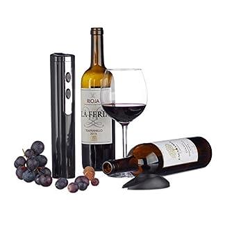 Relaxdays-Elektrischer-Korkenzieher-mit-Folienschneider-batteriebetrieben-Flaschenffner-Weinffner-verschiedene-Farben